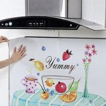 60*90 см Кухня маслостойкие кирпичные наклейки на стену бытовой шкаф плита высокая температура самоклеющиеся водонепроницаемые наклейки на стену