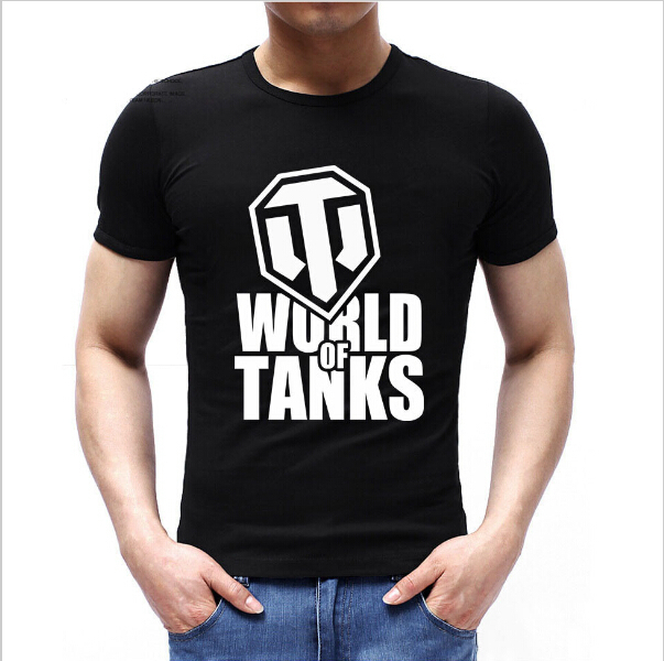 Round Neck Men World Of Tanks T Shirts Unique Custom Pattern Cool Male Game T-shirt Top Quality Guys Tee Shirt Clothes Sale
