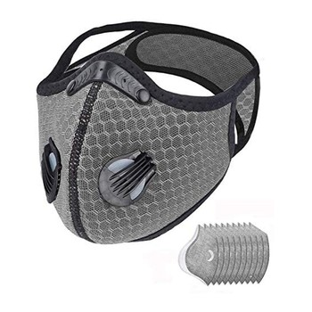 Unisex Mouth Cover 1pcs Bike Face Cover With 10pcs Filter Mascarillas Earloop Reusable Mask Respirator 2020 new Face cover