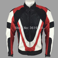 Red colors Motorcycle Jacket Oxford cloth 600D PU leather Racing jacket cycling with Back Cowl and Protectors Anti fall