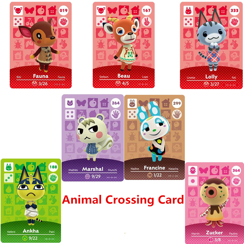 264 Marshal NFC Animal Crossing Amiibo Card New Horizons For NS Games Amibo Switch/lite Amiibo Card NFC Welcome Cards Series 1-4