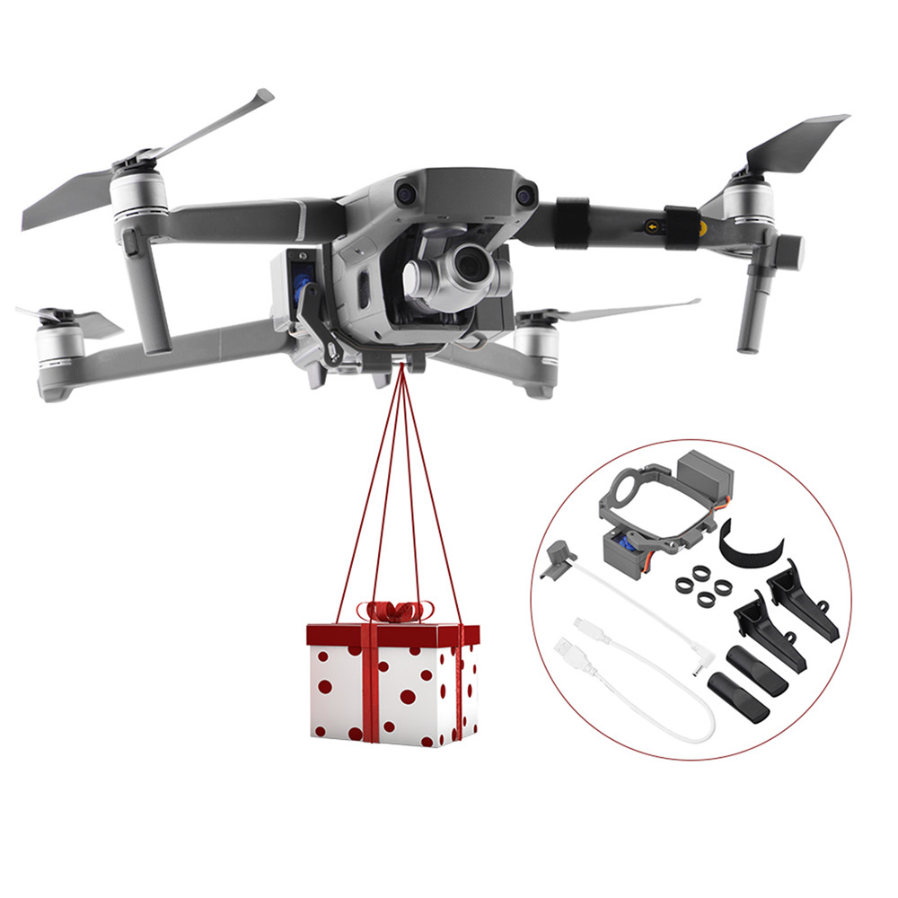 Professional Air-Dropping System Thrower Dispenser Delivery Device  For DJI Mavic 2 Zoom/Pro Drone Wedding Rings Gift Thrower