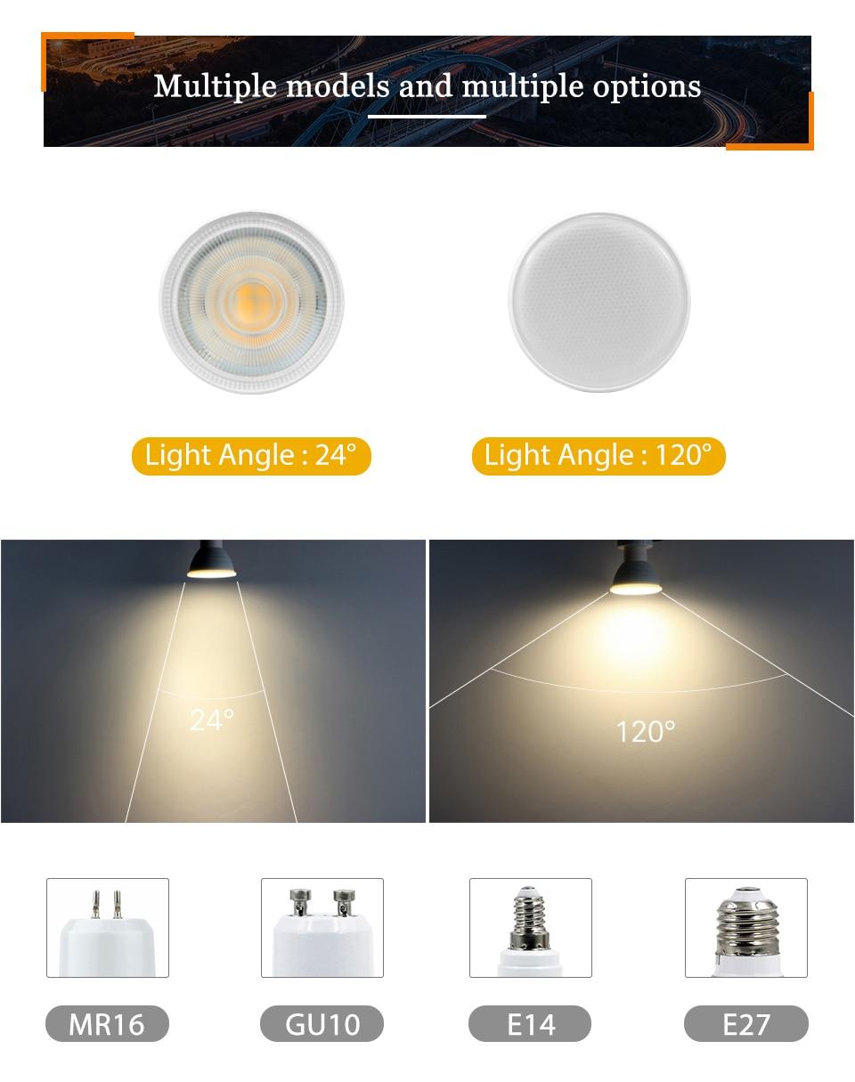Ha714a50ae68b4aa086419a3be23e581b2 - KARWEN Lampada LED Lamp 6W GU10 GU5.3 MR16 E27 E14 LED Bulb 220V Bombillas LED Spotlight Lampara Spot Light for living room