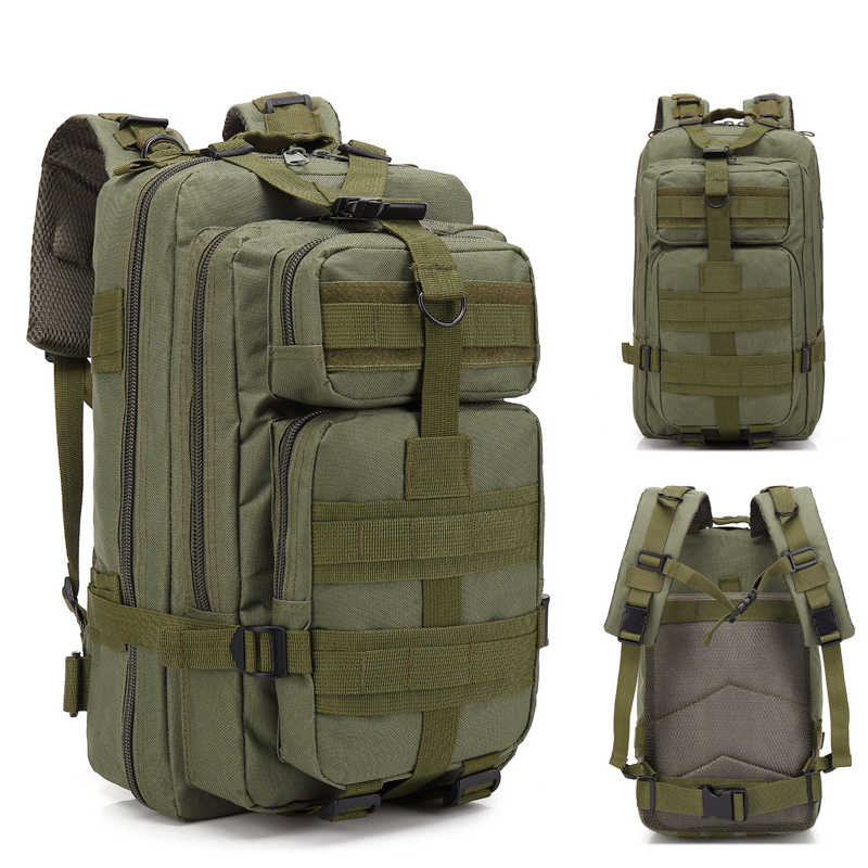 Hot Sale Men Outdoor Military Army 3p Tactical Backpack Molle Camping Hiking Trekking Sport Camouflage Backpack