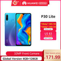"Código promocional ""TT10ANIVERSARIO328""80-10€ ,Versión Global Huawei P30 Lite 4GB 128GB Smartphone 6,15 pulgadas Kirin 710 Octa Core teléfono móvil EMUI Android 9,0 teléfono móvil"