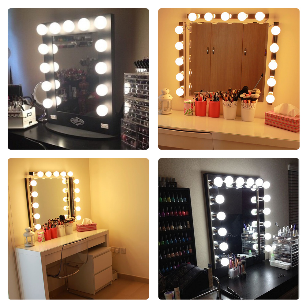 Lighted Vanity Mirror With 10 LEDs Made Of ABS Material For Makeup And Styling 5