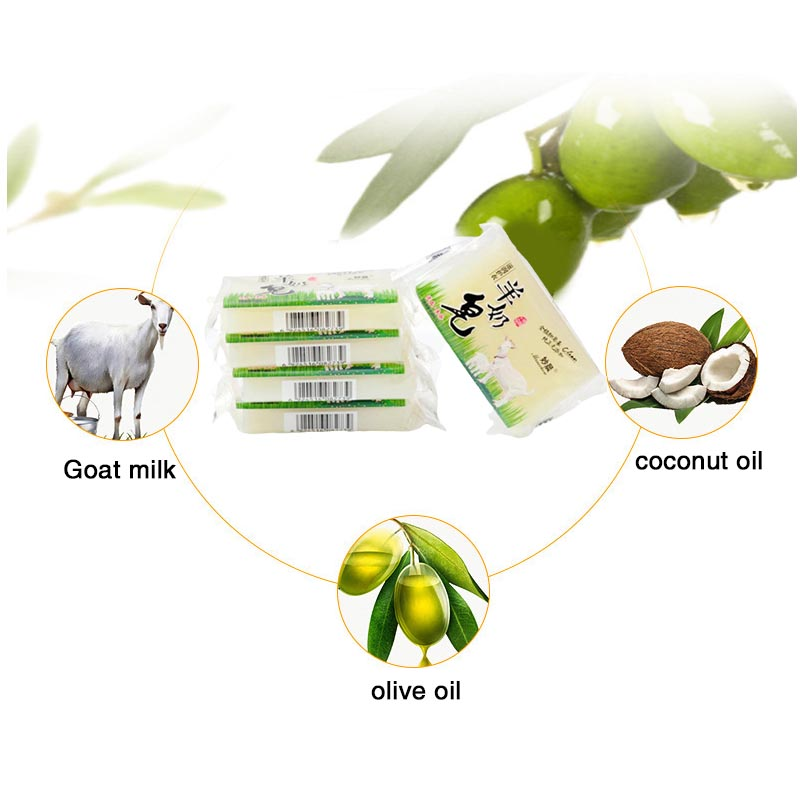 Deep Decontamination Multifunction Goat Milk Soap Laundry Bathing Cleansing Natural Plant Extracts Cleaning Soaps TN