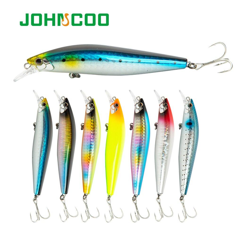 JOHNCOO 1 Uds Minnow hundimiento cebo duro 105mm 17g señuelo de pesca tungsteno peso Slider sistema cebo artificial de wobbler de fundición larga