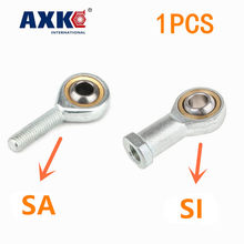 1Pc SI5 6 8 10 12 14 16 Tk Metric Man Links Vrouwelijke Rechtse Draad Rod End Joint lager Axk Lager Rod End Joint Lager