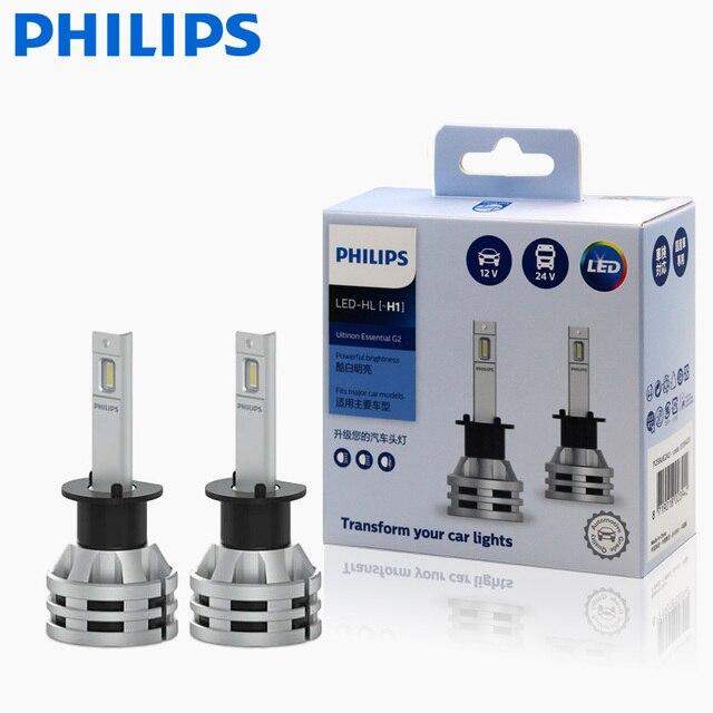 2X Philips Ultinon Ätherisches G2 LED 6500K H1 12/24V 19W P 14,5 s Weit und in der nähe von licht Original lampe Super weiß licht 11258UE2X2