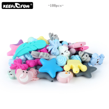 100pcs Silicone Beads Baby products Food Grade Silicone Teething Beads DIY Necklace Tools Accessories Baby Silicone Teethers pca 6006 rev a1 belt ethernet port 100% tested perfect