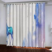soundproof windproof curtains Luxury Blackout 3D Window Curtains For Living Room Bedroom Customized size blue curtains morden bookself 3d curtains luxury blackout curtain 3d window curtains for living room bedroom customized size