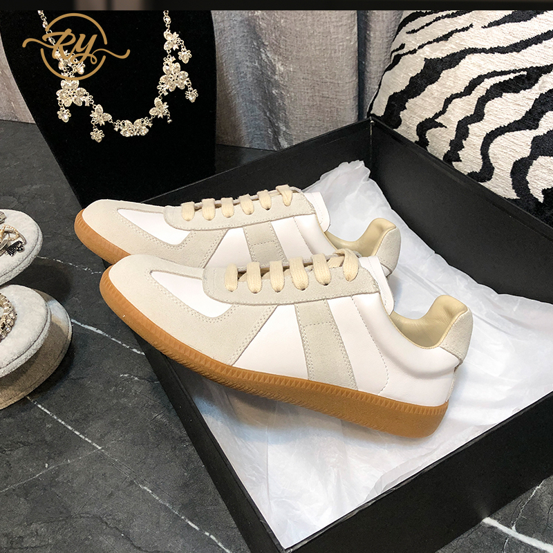 RY-RELAA Sneakers Women Fashion Genuine Leather New Shoes Woman 2020 Sneakers Ins Womens Luxury Shoes White Casual Shoes Women