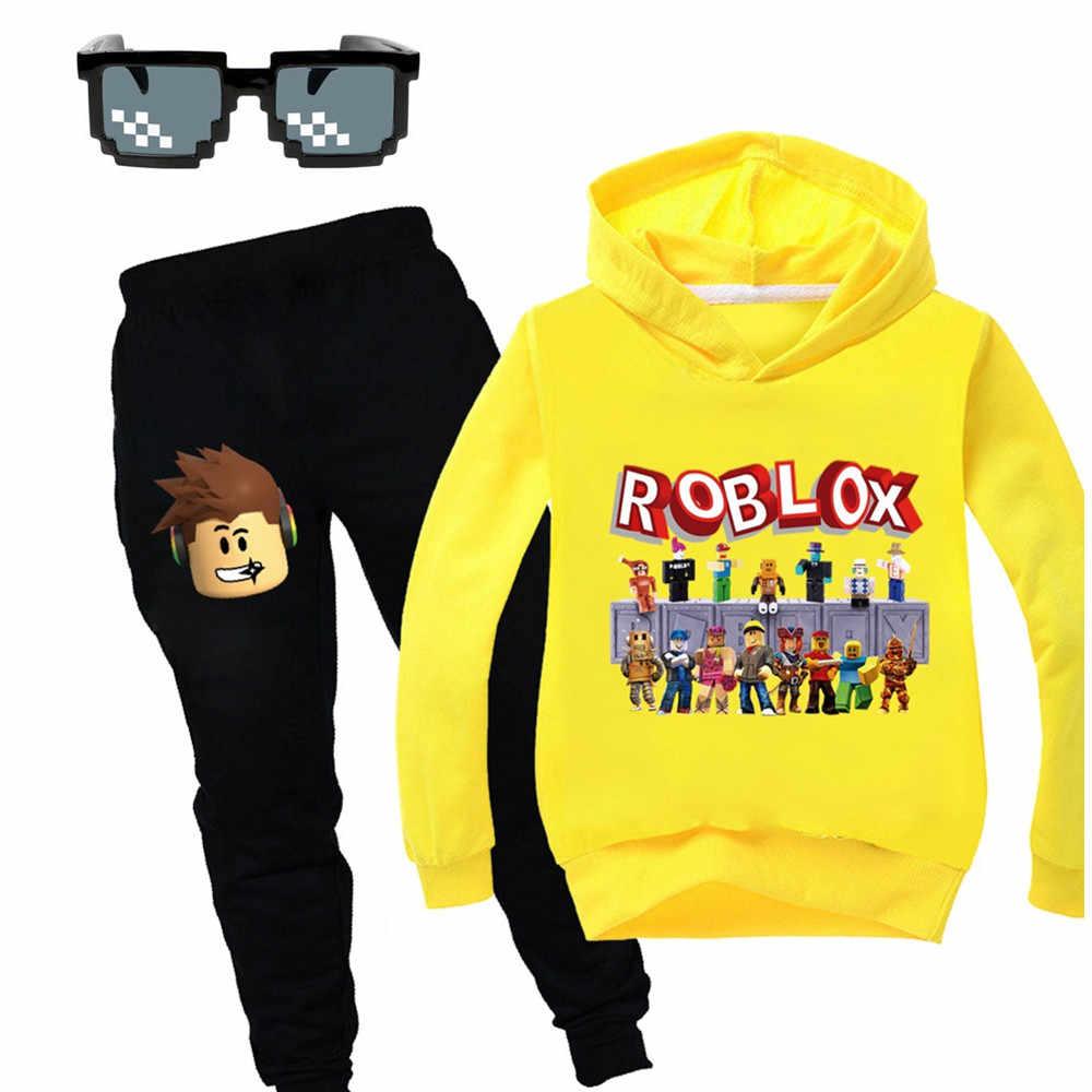 2020 De Nieuwe Roblox Kids Trainingspak Jongens Kleding Set Hoodies En Broek Tiener Sportwear Kleding Sport Pak Voor Meisje Herfst