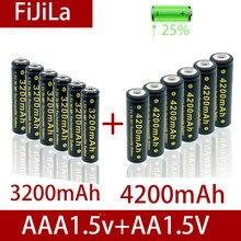2021 AA + AAA 100% nowy 1.5V AA AAA alkaliczny akumulator 32000-4200mAh latarka zegarek zabawki odtwarzacz MP3 wymień baterię Ni-MH