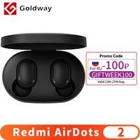 Xiaomi-auriculares inalámbricos Redmi AirDots 2, por Bluetooth 5,0, auriculares internos estéreo de graves con Control IA