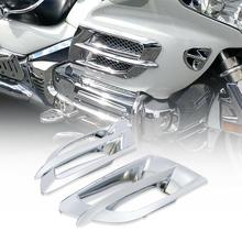 Motorcycle Chrome Side Fairing Accent Grilles For Honda Goldwing 1800 GL1800 2001-2011 02 03 04 05 06 07 08 09 10 цены онлайн