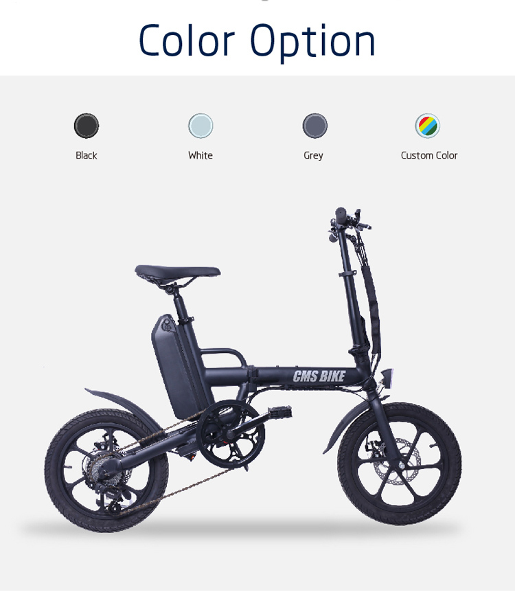 CE approved folding ebike 16 inch pedal assisted electric fold bike with 36V 13AH lithium battery 9