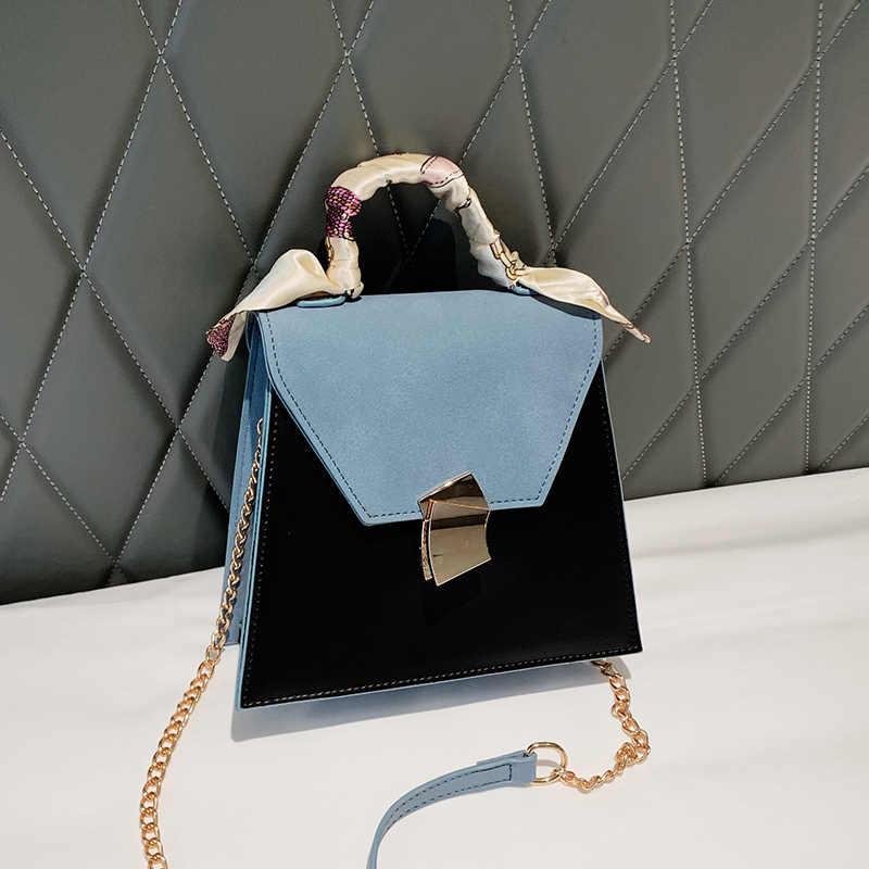 Винтажная модная женская сумка-тоут YL, новинка 2020, качественная дизайнерская женская сумка из искусственной кожи, сумка-мессенджер через плечо с цепочкой и замком