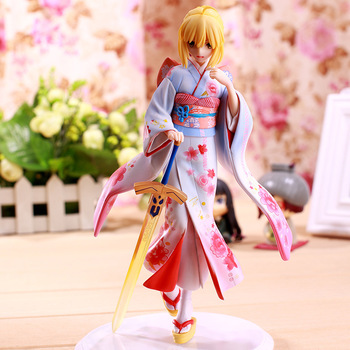 25cm Fate stay night saber kimono action figure PVC toys collection anime cartoon model toys collectible 1