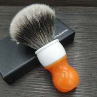 dscosmetic 26 Carrot resin handle two band badger hair and synthetic hair mixed knots shaving brush for man shave wet tools