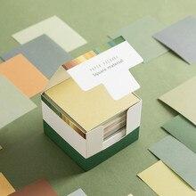 150 arkuszy seria filmów notatnik dziennik papierowy materiał kreatywny jednolity kolor notatnik artykuły szkolne Kawaii bez lepkości