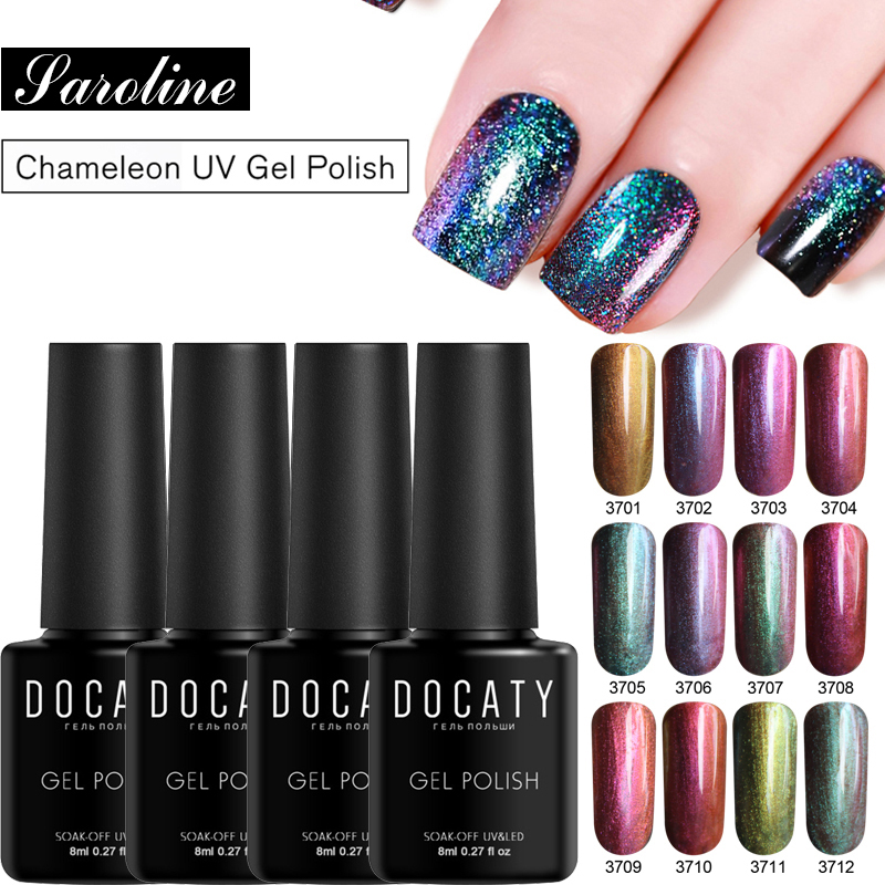 Holographic Nail Polish Sequins Chameleonic Iridescent Flakies Shimmer Fingernail Gel Lak Art Lacquer Varnish Nail Designs