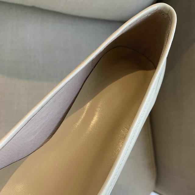 QUTAA 2020 Sheepskin Pointed Toe Single Shoes Sweet Butterfly-Knot Women Pumps Square Heel Slip on Women Shoes Big Size 34-43