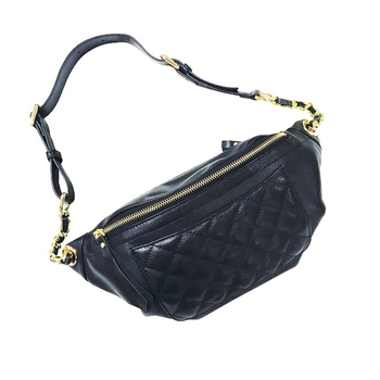 Women Waist Bag Genuine Leather Cowhide Messenger Female Phone Pouch Rhombic Chain Chest Bags Multi-function Packs 2021 New