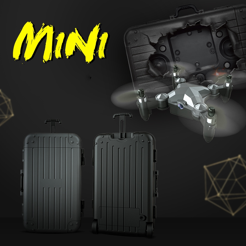 lowest price Luggage Mini Drone Folding Aerial Photography Remote Control Aircraft Four-Axis Aircraft Children s Toy