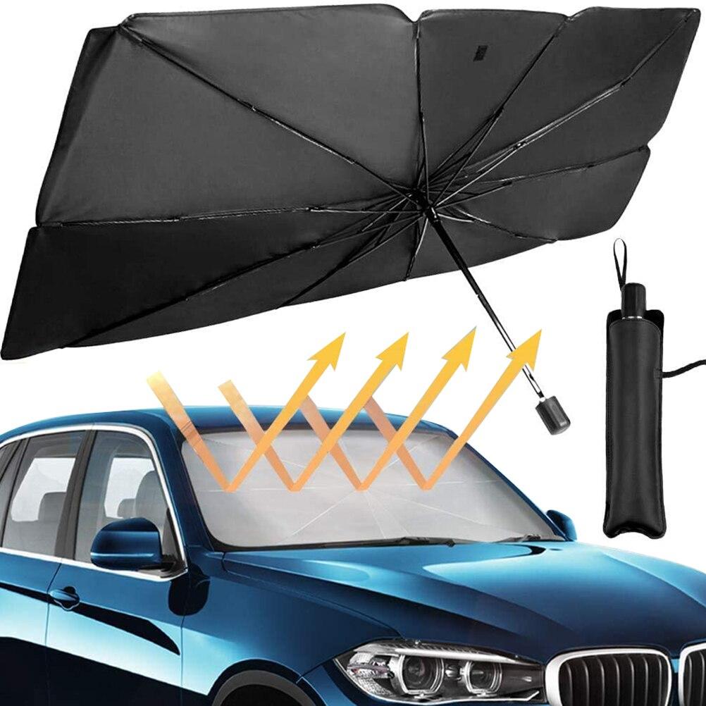 125 سنتيمتر 145 سنتيمتر طوي زجاج سيارة الشمس الظل مظلة سيارة UV غطاء ظلة العزل الحراري نافذة أمامية الحماية الداخلية