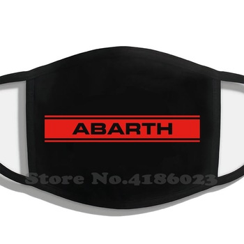 Abarth Stripe (Red) Printing Washable Breathable Reusable Cotton Mouth Mask Abarth Fiat 500 595 695 124 Point Alfa Romeo Lancia image