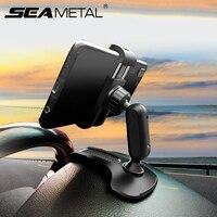 Soporte de teléfono para salpicadero de coche, Clip fuerte antideslizante, rotación de 360 grados, HUD