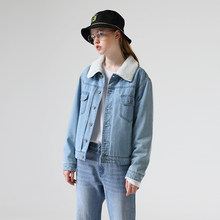Toyouth 2019 BF Angin Denim Parka Mantel Single Breasted Solid Pakaian Luar Celana Jeans Mantel(China)