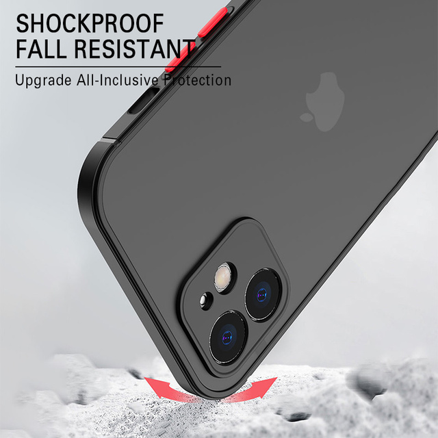 Luxury Silicone Shockproof Matte Phone Case For iPhone 11 12 Pro Max Mini X XS XR 7 8 Plus SE 2020 Ultra Thin Transparent Cover 4