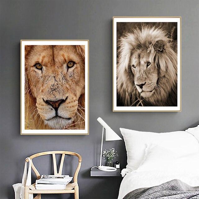 Фото картина с рисунком животных художественная стена высокий ожесточенный цена