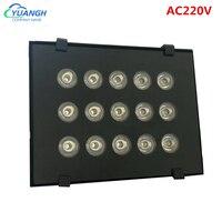 Luz de relleno CCTV IR AC220V, 15 Uds., iluminadores Luz infrarroja IR LED CCTV, lámpara de luz para cámara de visión nocturna