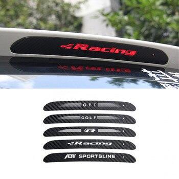Luces de freno de coche pegatina de vinilo de fibra de carbono accesorios de decoración para VW Polo GTI Golf 6 7 Mk6 Tiguan Passat B6 B8
