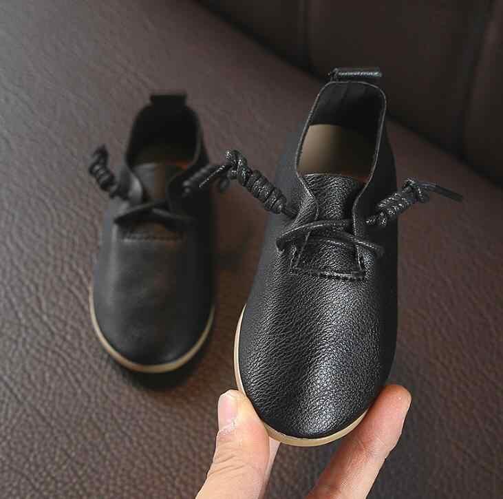 חם אביב סתיו ילדי עור נעלי בני בנות רך Sole לבן ילדי נעליים יומיומיות עבור בית ספר מסיבת ריקוד סניקרס גודל 21 -30