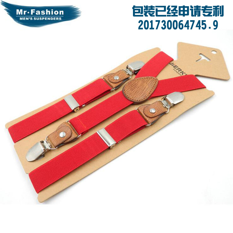 Suspender Strap Children 3 Clip Y Type Monochrome Suspender Strap Men And Women Children Kids Elasticity Suspender Strap Clip