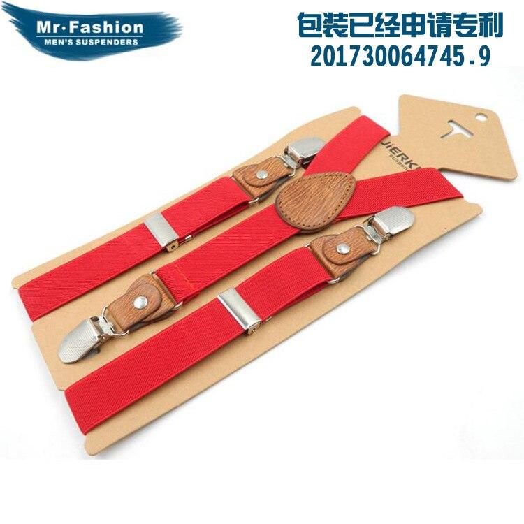 Suspender Strap Children 3 Clip Y Type Monochrome Suspender Strap Men And Women Children Kids Elasticity Suspender Strap Clip