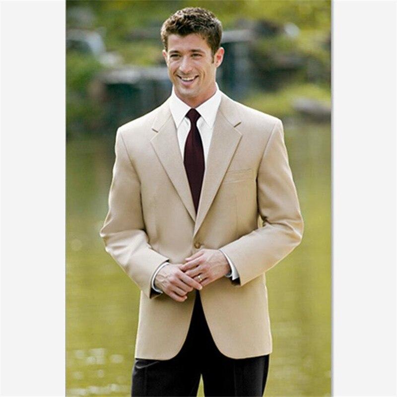 Costumes pour hommes (veste + pantalon) pour mariage personnalisé cranté revers marié smokings pour hommes nouveauté costumes bal marié