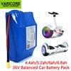 Individu électrique de scooter de roue de VariCore 36V 4.4Ah 5.2Ah 6Ah 6.8Ah 2 équilibrant le paquet de batterie au lithium de 18650 pour des ajustements auto-équilibrants