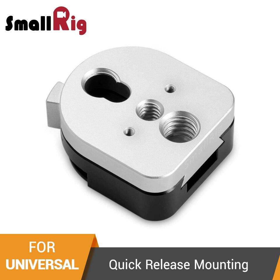 Small rig s-lock dispositif de fixation à dégagement rapide plaque mâle et Famale avec trous filetés de 1/4