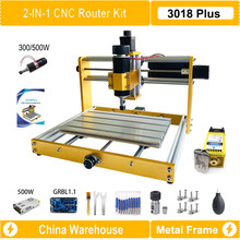 CNC 3018 Plus cadre métallique CNC Kit de routeur avec Nema17 42BYG moteur pas à pas 300W/500W broche gravure Machine