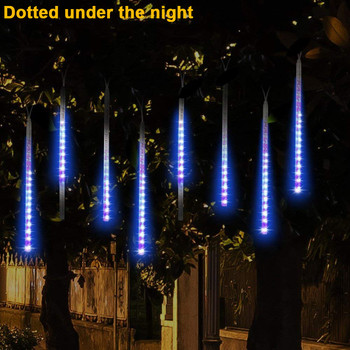 Cool festival lights Party LED Lights Meteor Shower Rain Snowfall Xmas Tree Garden Outdoor Luces frescas del festival image