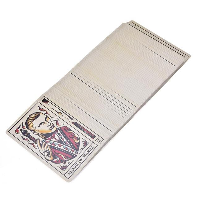 78pcs Tattoo Tarot Cards Full English Board Game Tarot Card Deck Family Party Entertainment Game Playing Cards PDF Instructions 2