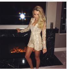 dress Beautiful sexy nightclub summer lace shorts two-piece fashion