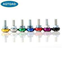 AQTQAQ 1 ensemble Premium étanche plaque d'immatriculation cadre Anti-vol vis capuchons pour moto (couleur aléatoire)