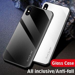 Image 3 - 25pcs Stripe Gradient Glass Phone Case for Xiaomi 10 Pro/CC9/Redmi 8A/K20 Pro/Redmi Note 9s/Note 8T/Note 9 Pro/Note 8 Pro/Note 7
